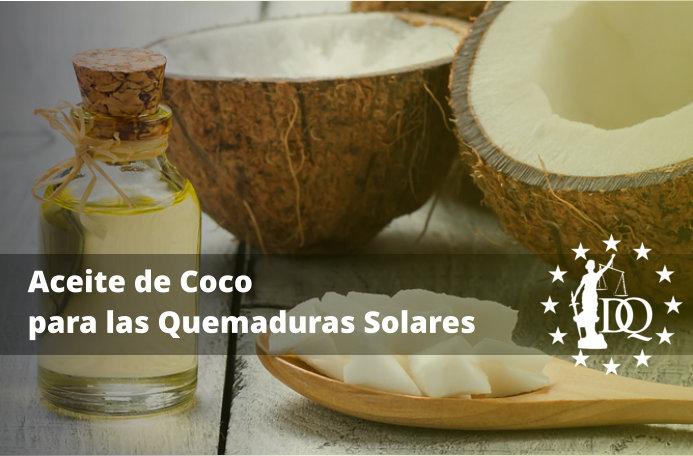 Uso del Aceite de Coco para las Quemaduras Solares